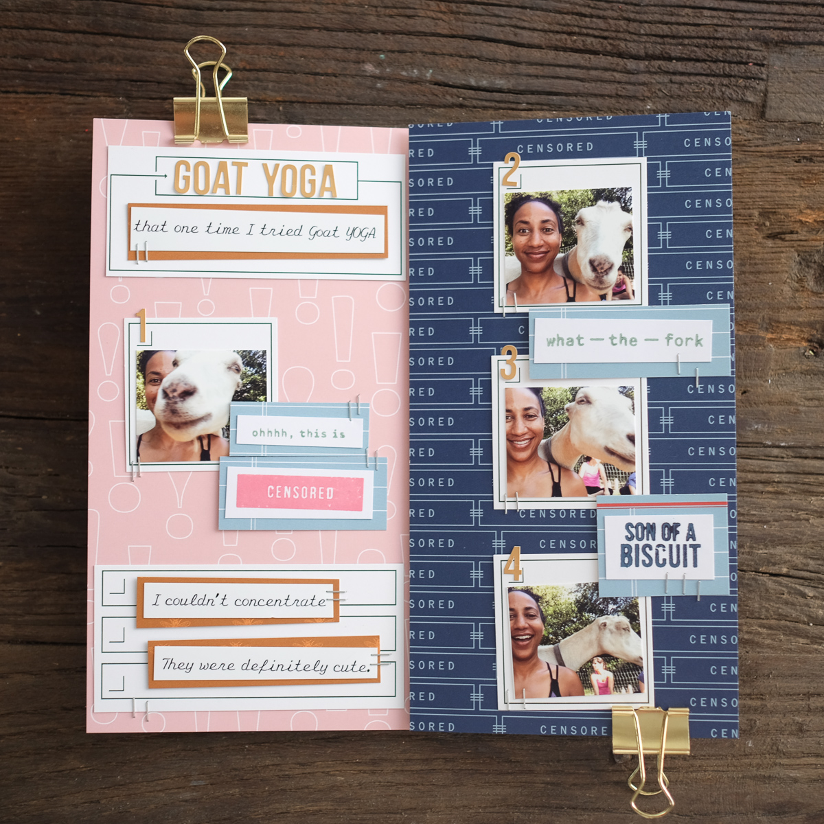 Azzari Jarrett | Traveler's Notebook Layout | Kelly Purkey Shop