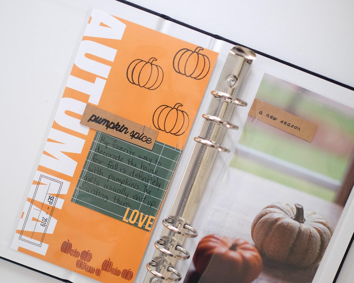 Azzari Jarrett | Fall Traveler's Notebook Layout