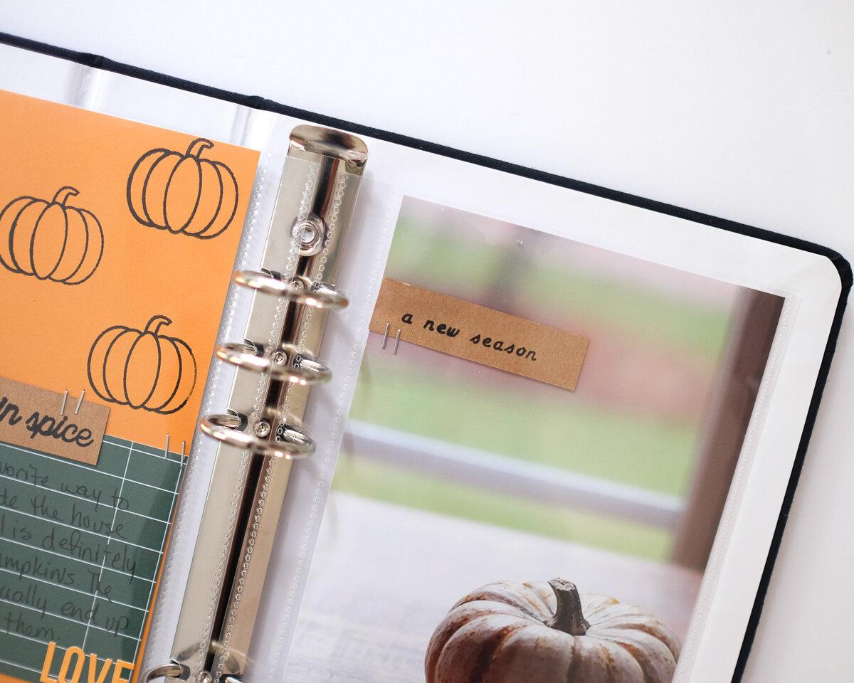 Fall Traveler's Notebook Layout