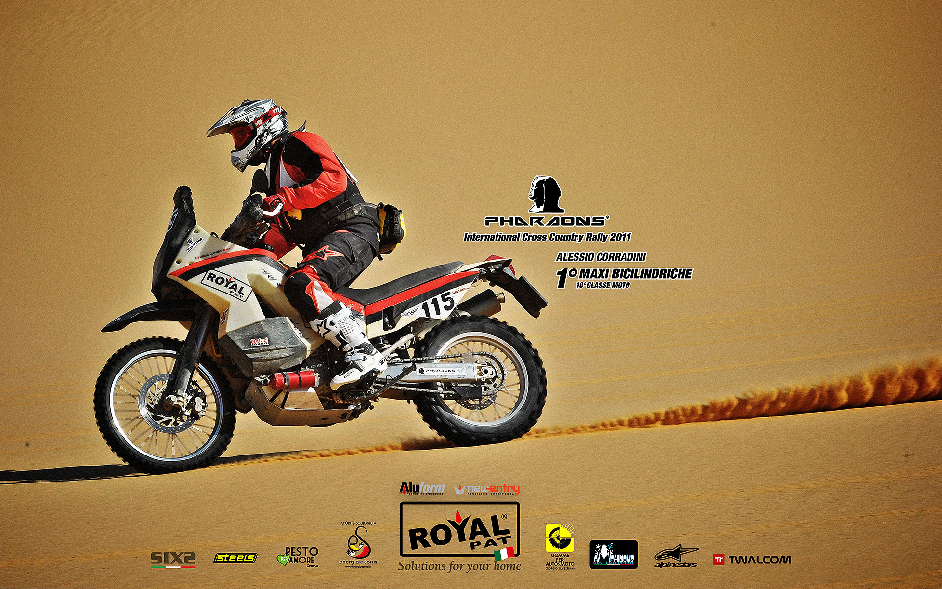 icture taken during Pharaons' Rally 2011 - 1° bicylinder class  ©2011 Edo Bauer & Cristiano Barni
