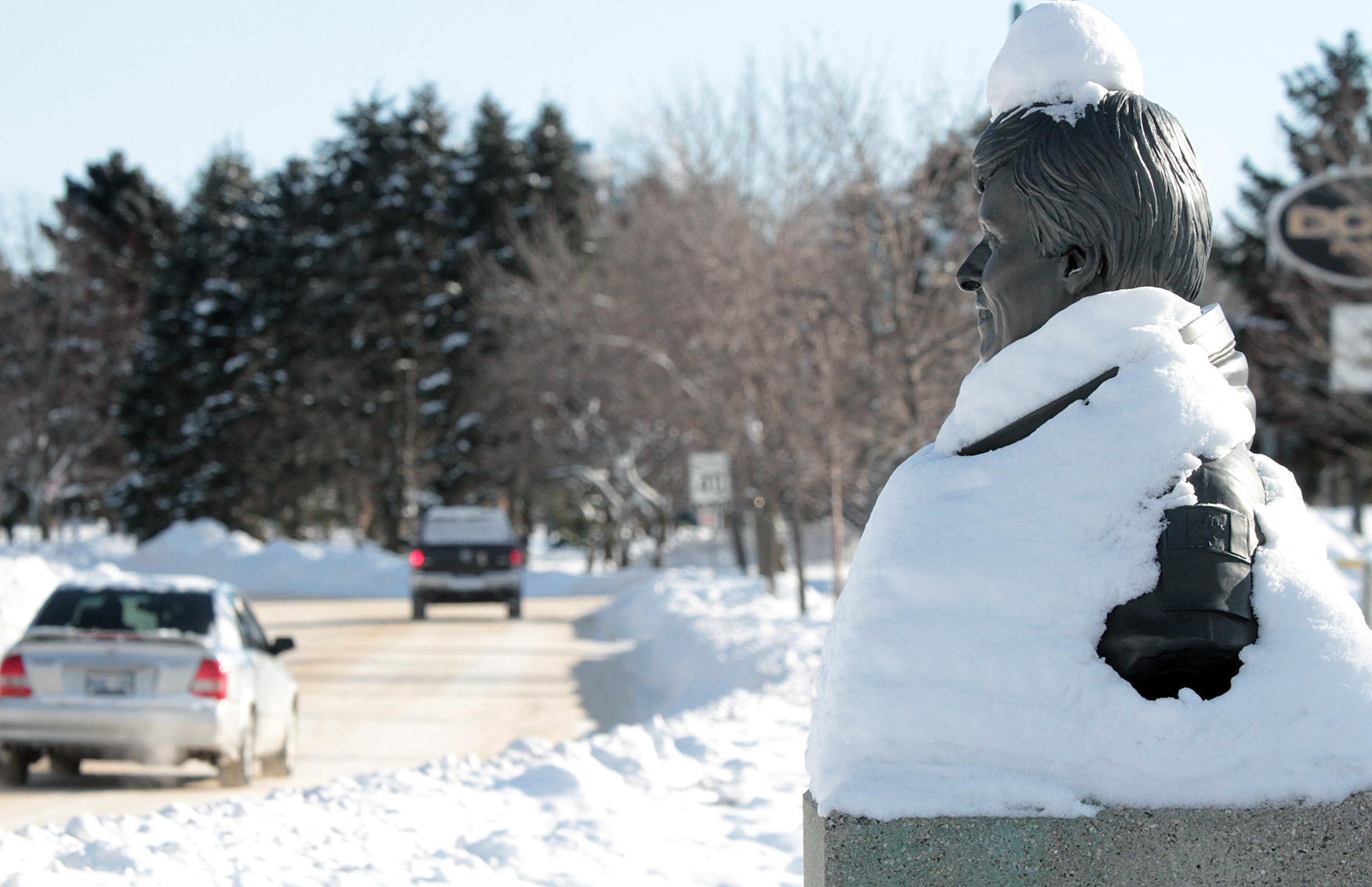 Finding an interesting weather photo each day, can be a challenge. This photo, I snapped of a statue Dr. Roberta Bondar's (Canada's first female astronaut) with a giant dusting of snow....was different look at a weather picture, yet told a story about a snow-filled winter. Often a weather feature can be found, by just looking at your surrounding environment.