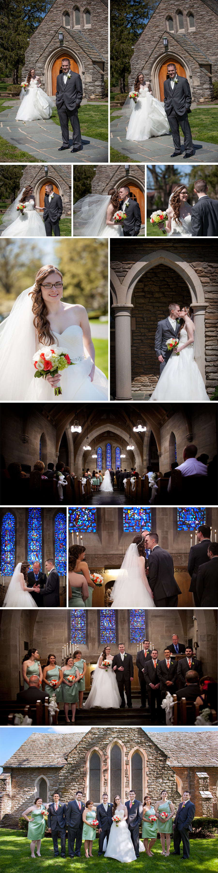 It was a beautiful Louisville wedding ceremony at Duncan Memorial Chapel in Crestwood, KY.