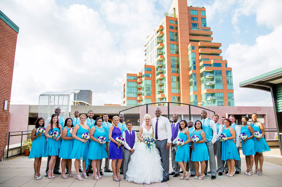 Ice House Rooftop Bridal Party Picture