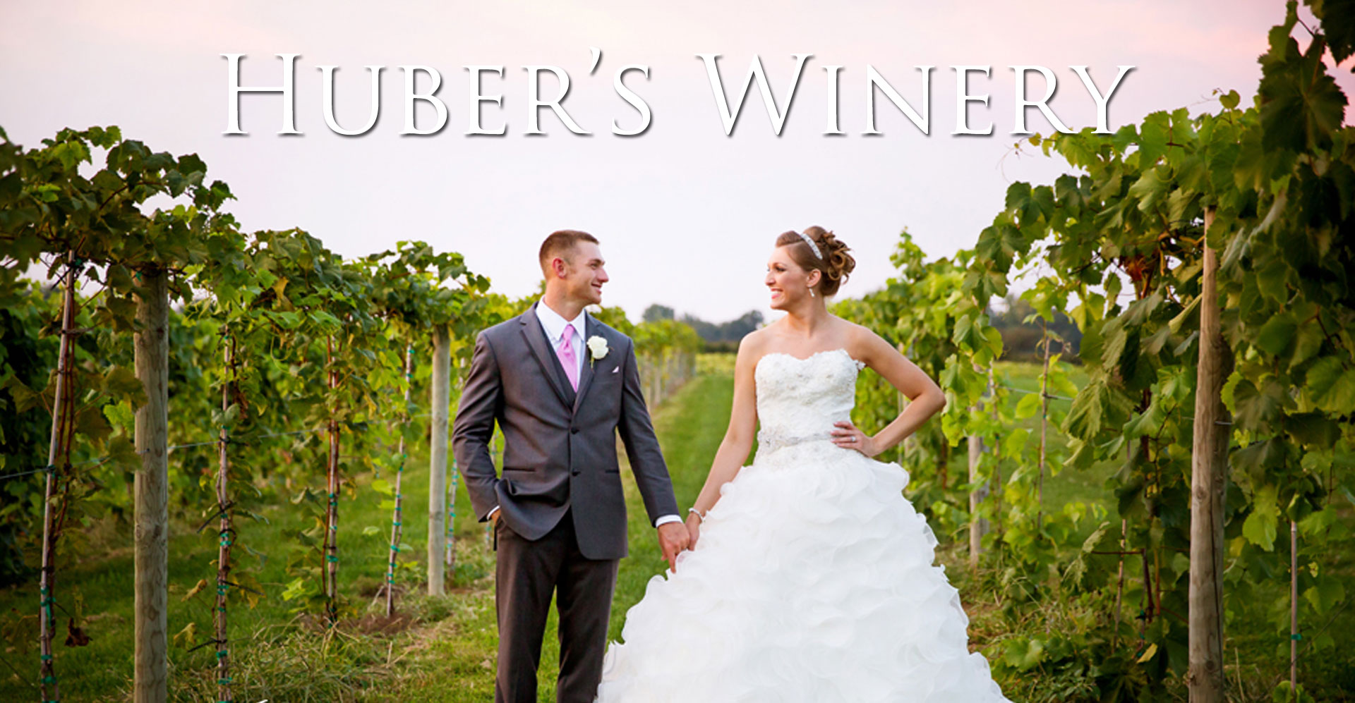 Huber's Winery Wedding Photo
