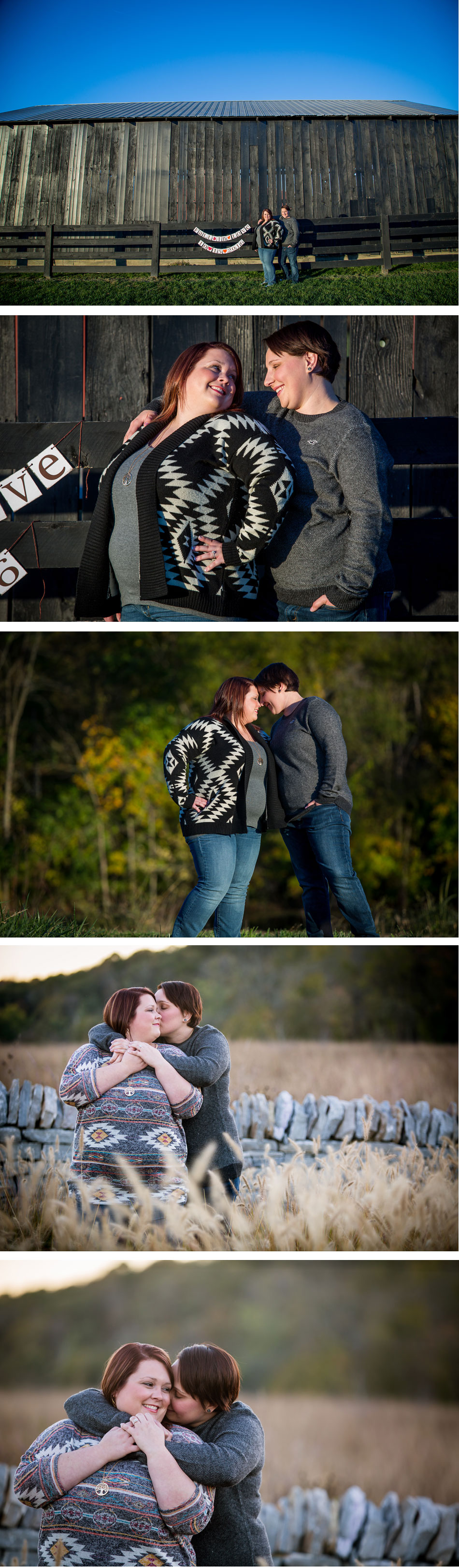 Lesbian Fall Engagement Photos