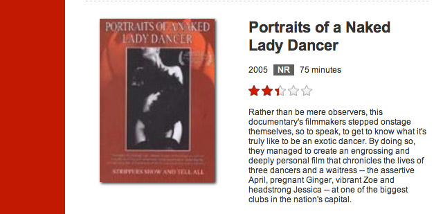 Blue is listed as the creative director of this movie by Deborah Rowe, as well as chief cameraman.   SEE IT ON NETFLIX  .
