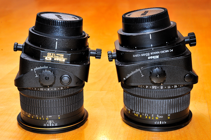 Nikkor 85mm Tilt shift (perspective control) for small products