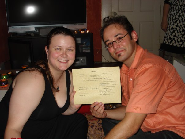 August 28th, 2009. My 25th birthday and wedding day.