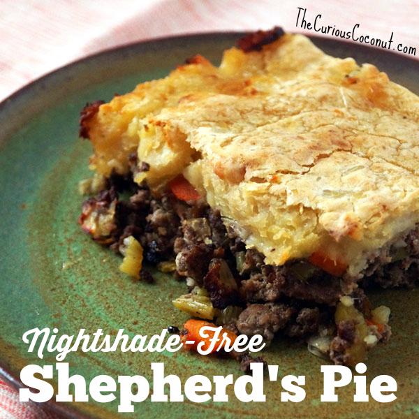 Nightshade-free, dairy-free shepherd's pie