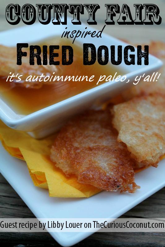 County Fair Inspired Fried Dough (autoimmune paleo!) // TheCuriousCoconut.com