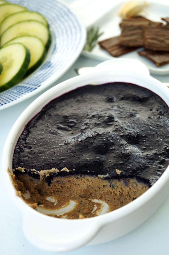 Dairy-free beef liver  pâté  with blueberry jelly #aip ::: TheCuriousCoconut.com