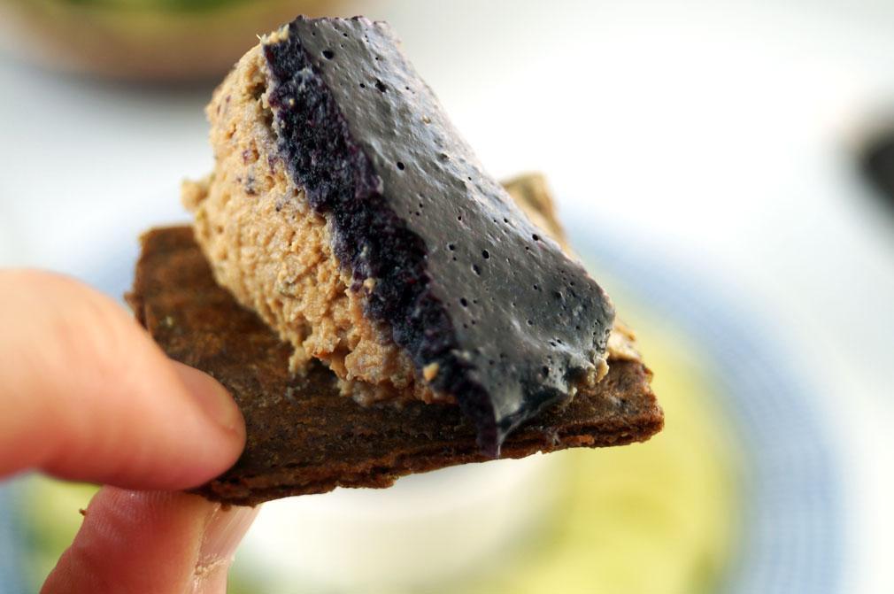 beef liver pate + crackers #autoimmunepaleo