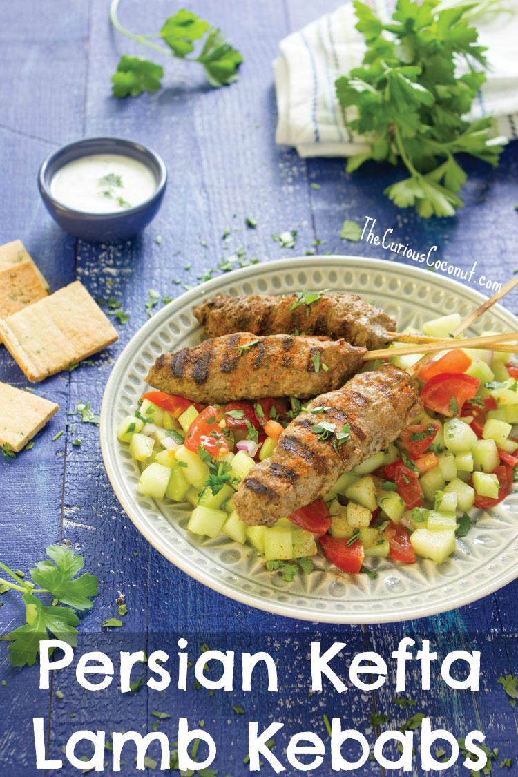 Persian Kefta Lamb Kebabs from Mediterranean Paleo // TheCuriousCoconut.com #paleo #glutenfree