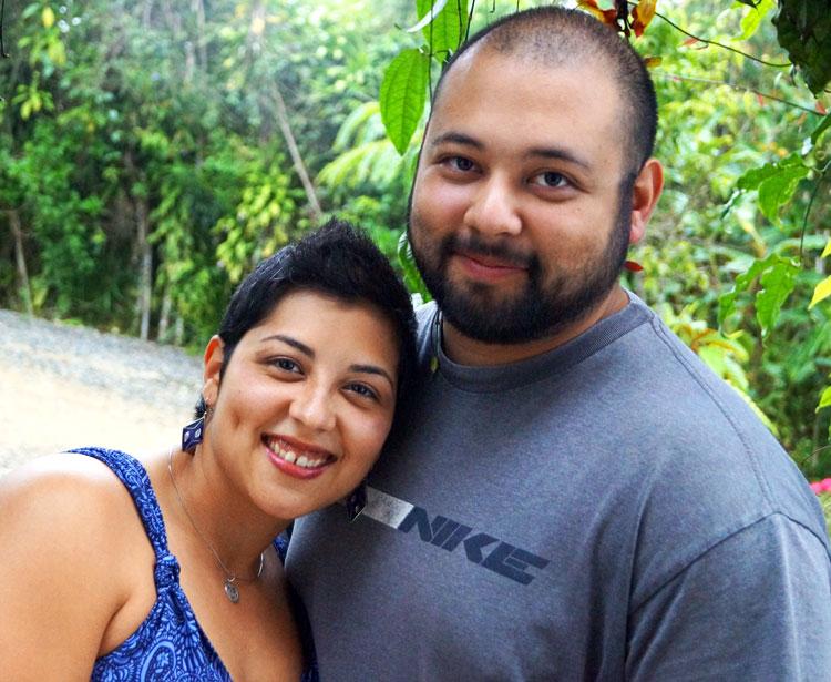 Akemi and Carlos at the qigong retreat in Costa Rica 2013