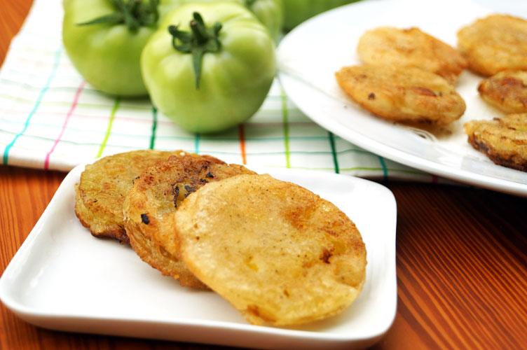 paleo fried green tomatoes