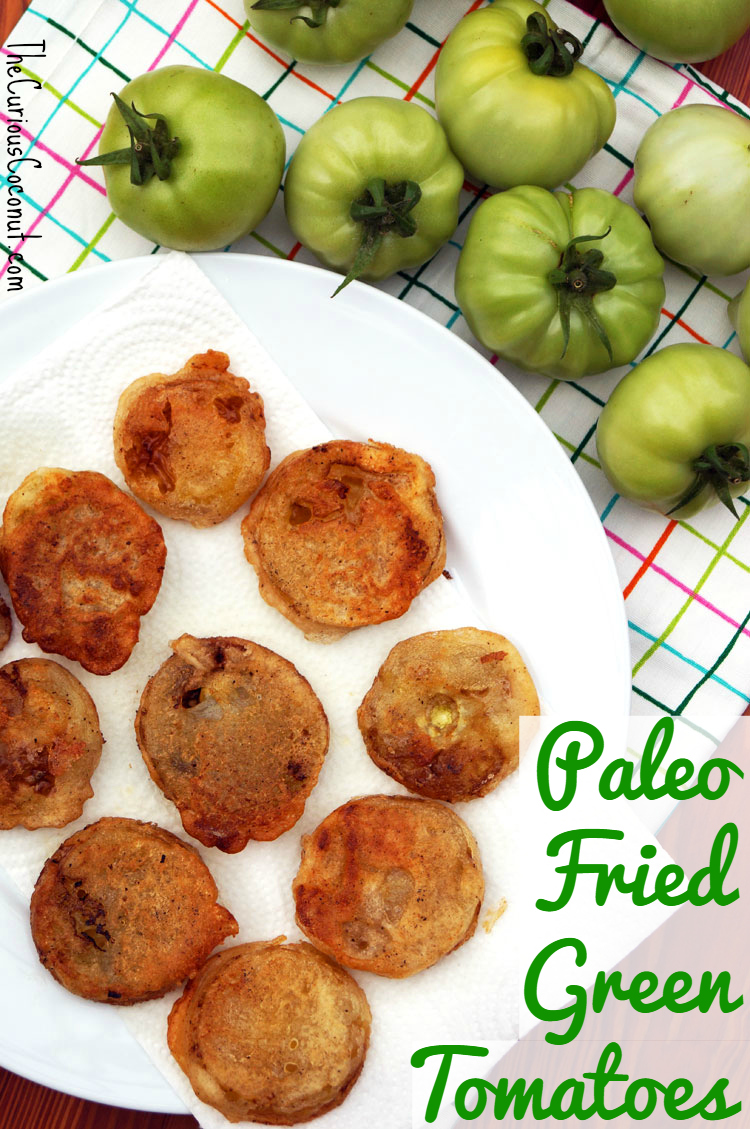 #Paleo Fried Green Tomatoes // TheCuriousCoconut.com #southernfood