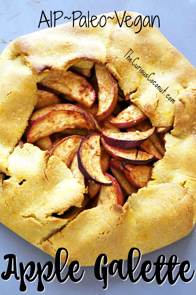 Rustic Apple Galette (AIP, Paleo) // TheCuriousCoconut.com