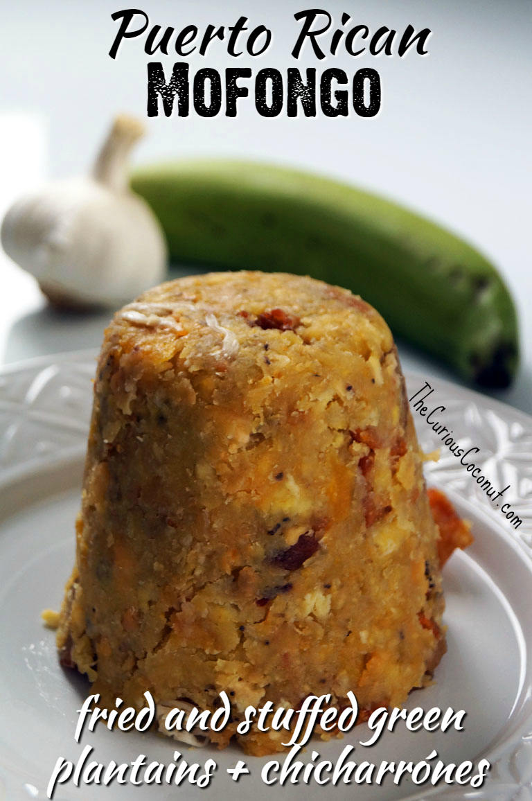 Puerto Rican Mofongo Relleno (fried green plantains and chicharrones stuffed with shredded meat) // TheCuriousCoconut.com