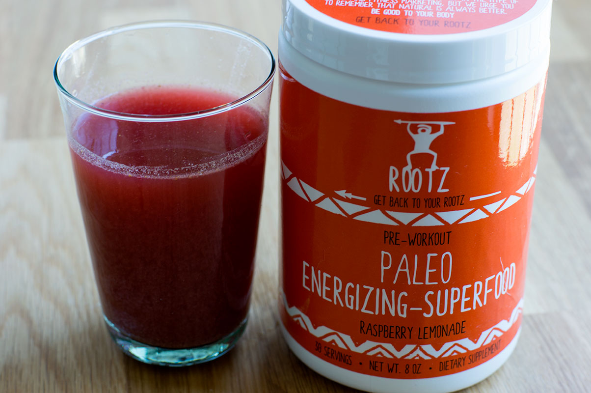 Rootz Nutrition Paleo Energizing Superfood Pre-Workout Powder // TheCuriousCoconut.com **coupon code thecuriouscoconut for 10% off orders!**