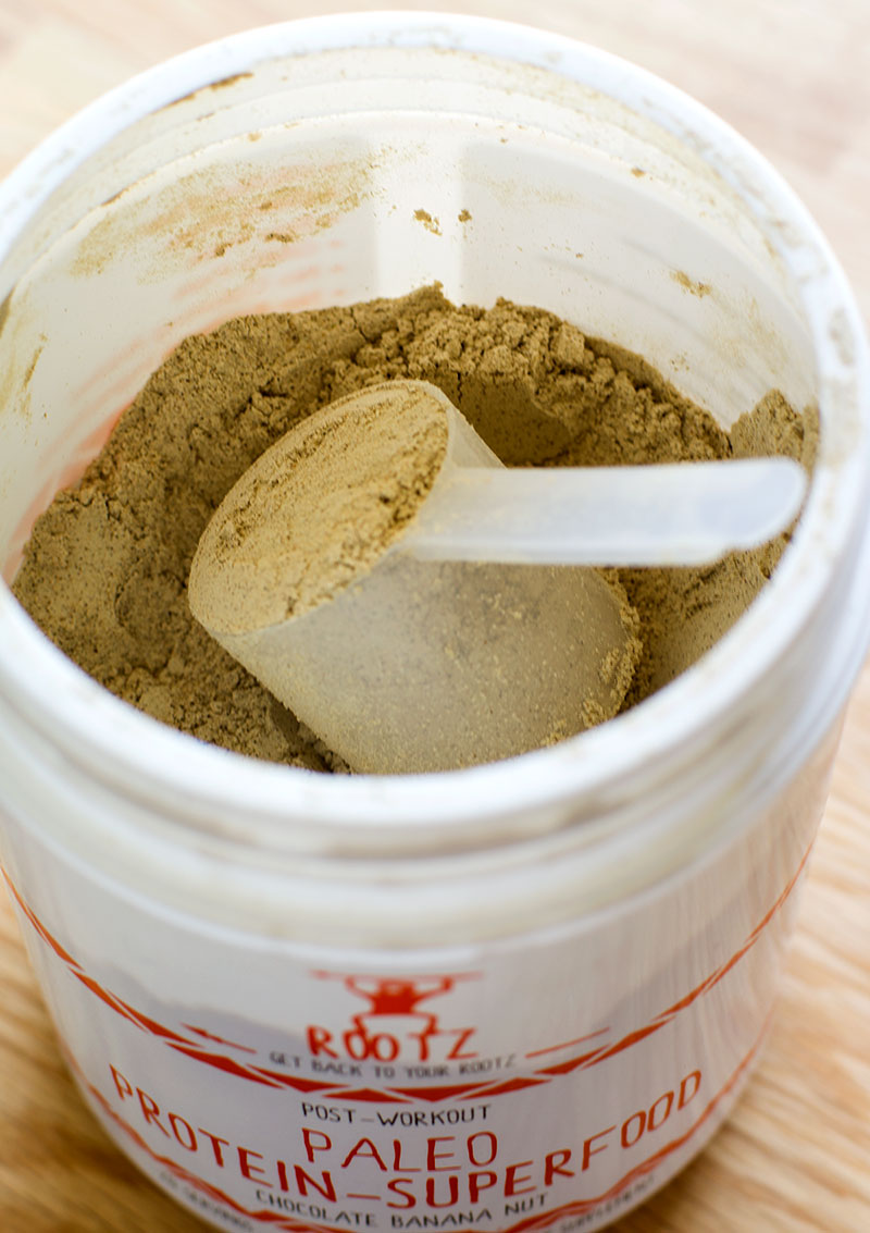 Rootz Nutrition Post-Workout Paleo Protein Superfood Powder // TheCuriousCoconut.com **coupon code thecuriouscoconut for 10% off orders!**