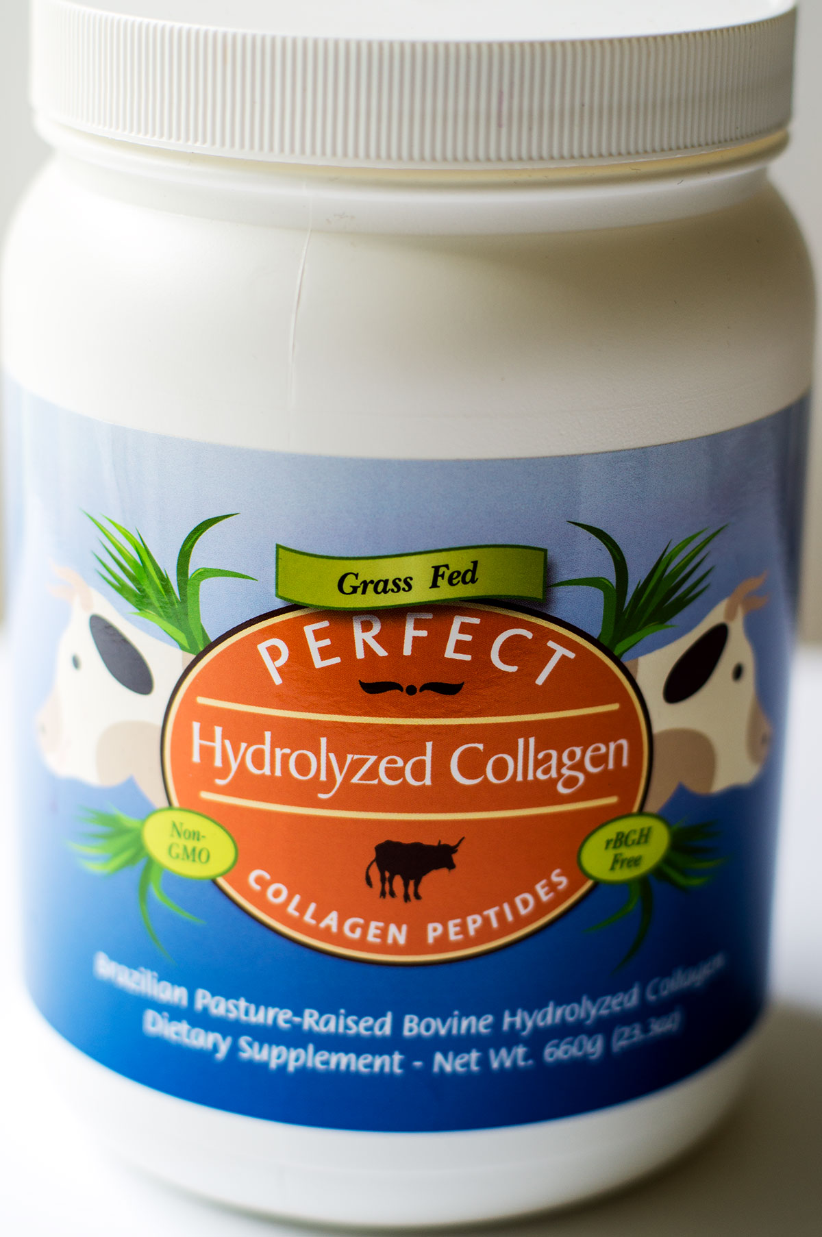 Grass-Fed Hydrolyzed Collagen Peptides by Perfect Supplements - most cost effective per gram!