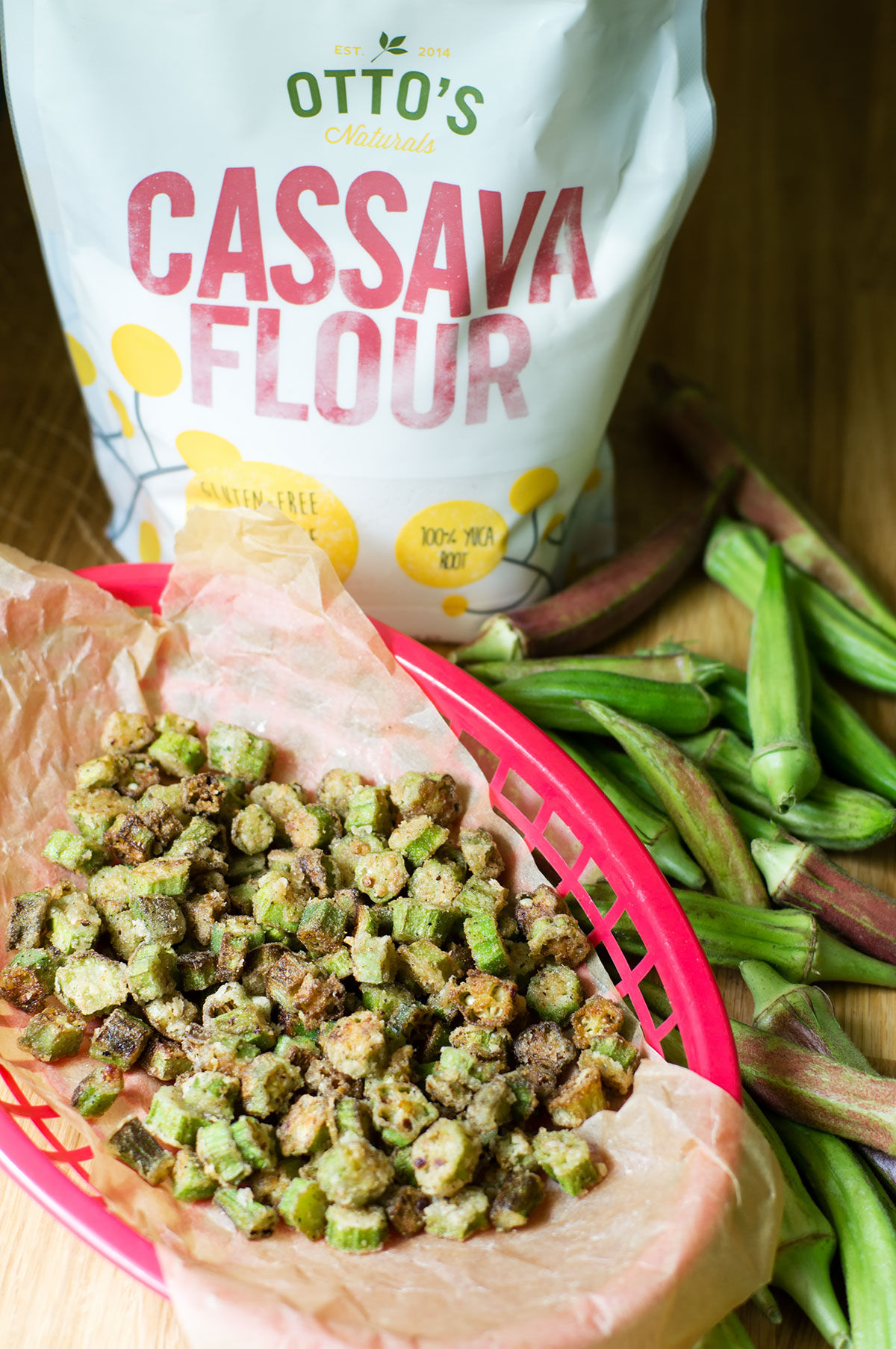 Southern Fried Okra // Paleo, AIP, Vegan, made with Otto's Cassava Flour // TheCuriousCoconut.com