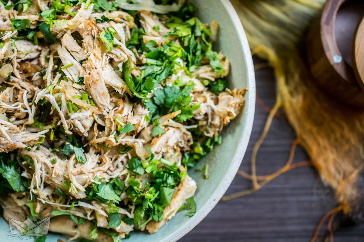 Instant Pot Chicken or Turkey Vaca Frita (Paleo, AIP, Whole30, Low-Carb) // TheCuriousCoconut.com guest post by TheCastawayKitchen.com