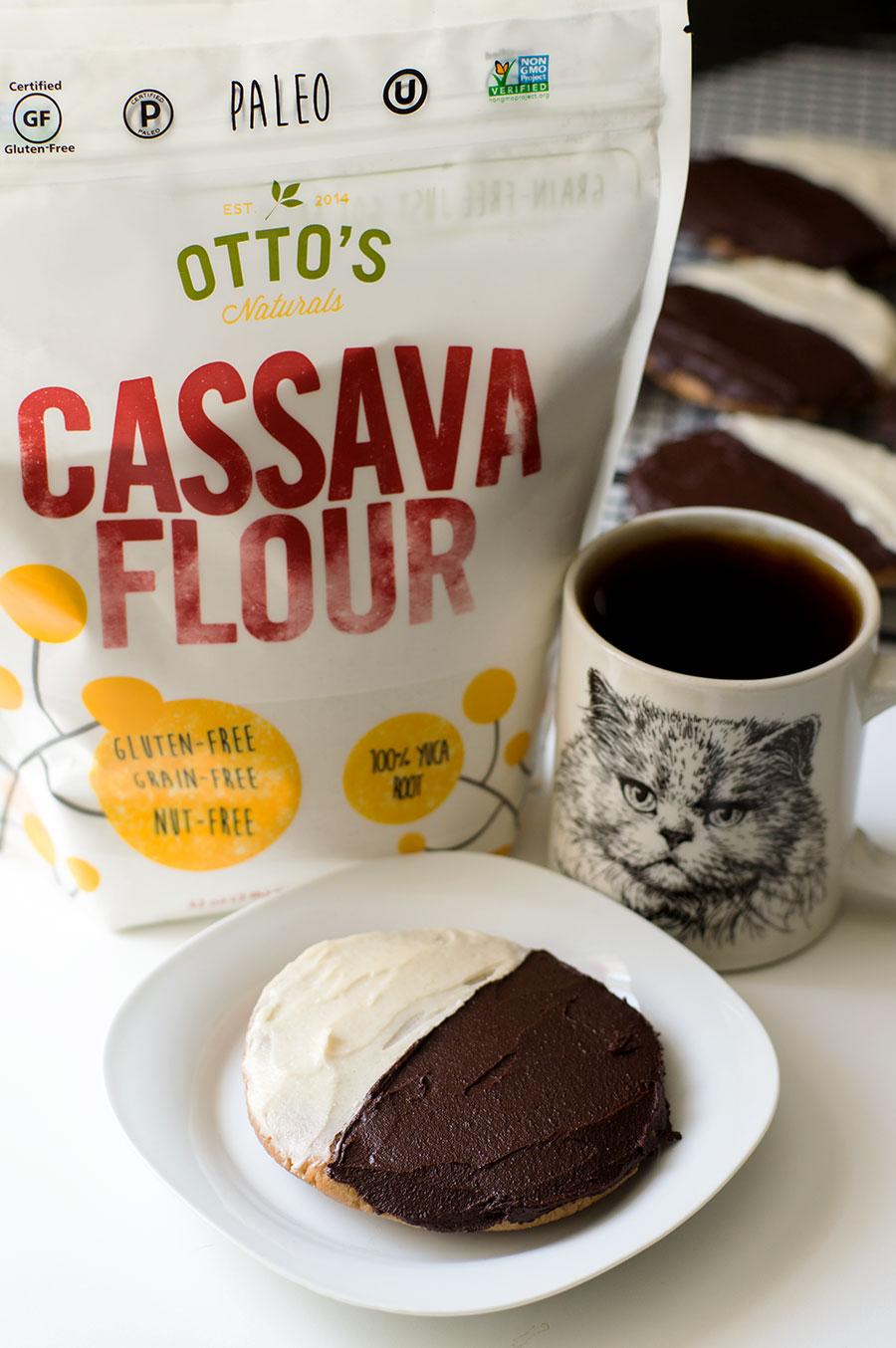 otto's cassava flour black and white cookies (Paleo, AIP, vegan)