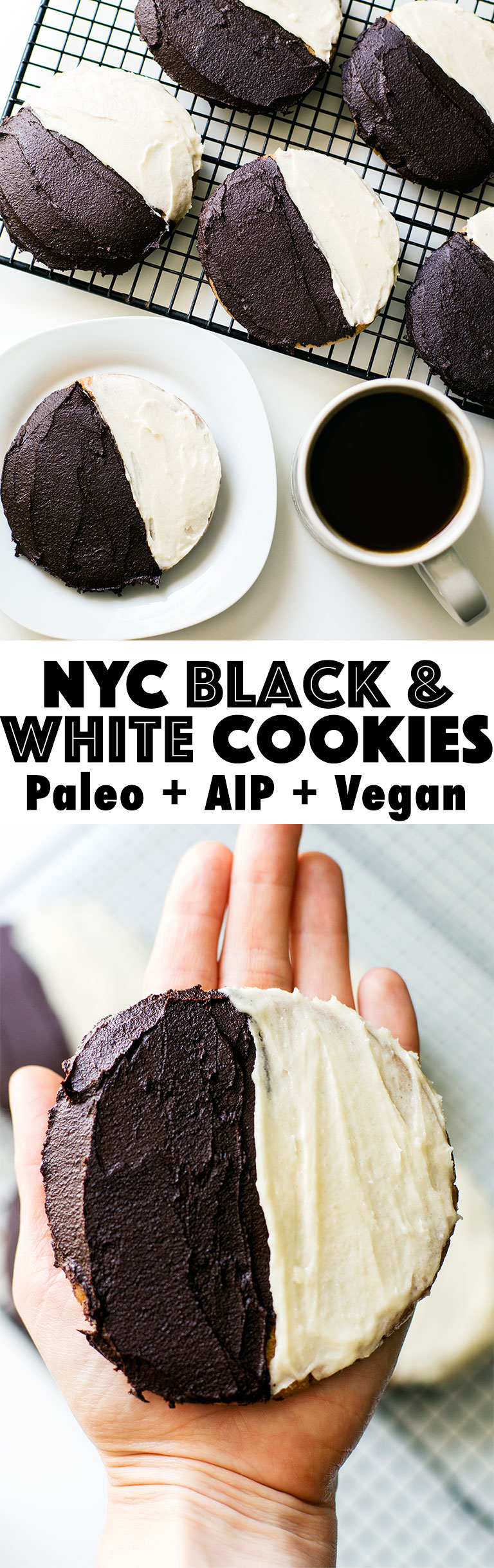 Paleo NYC black and white cookies