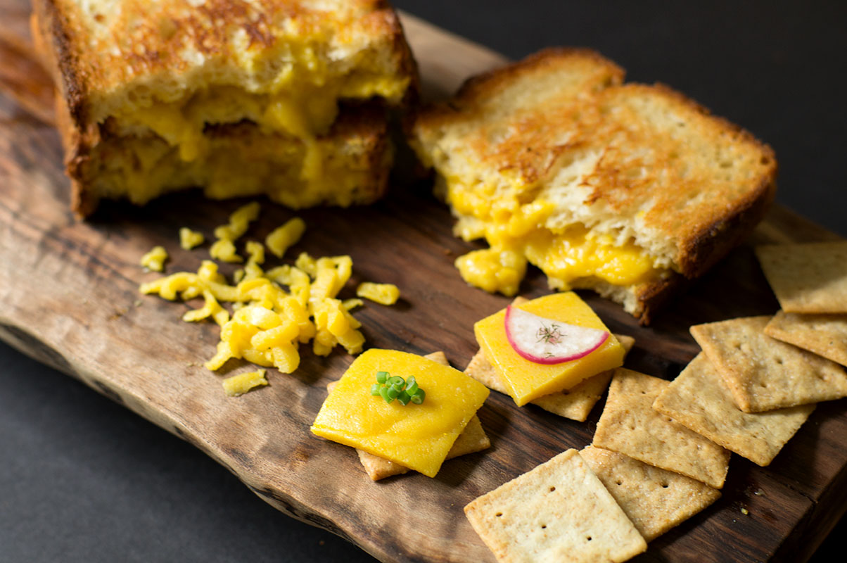 Paleo AIP vegan cheddar you can slice, shred, and melt