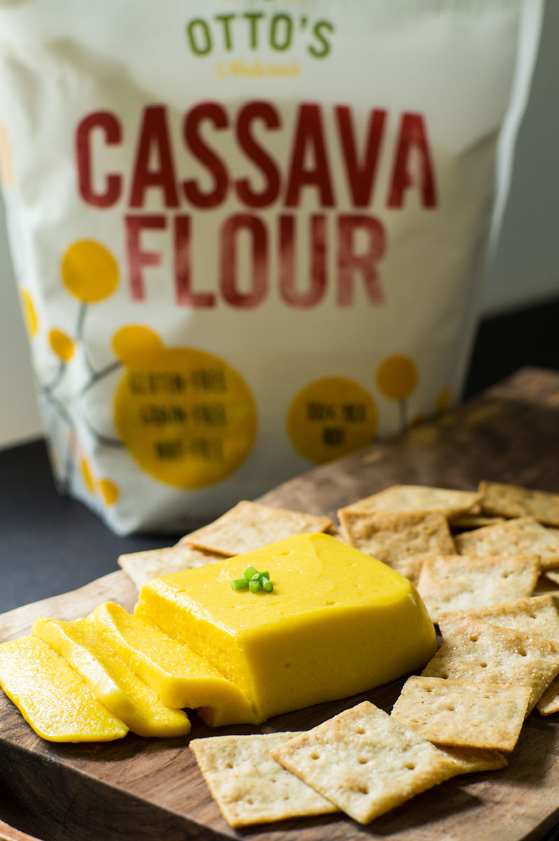 Otto's cassava flour for paleo cheddar cheese