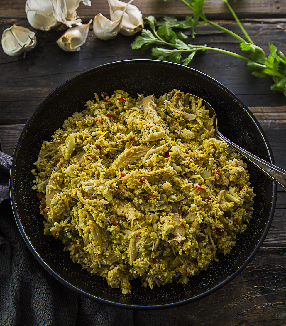 """Paleo and AIP """"Arroz"""" Con Pollo from Latin American Paleo Cooking by Amanda Torres"""
