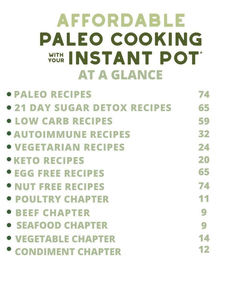 recipes in affordable paleo cooking with your instant pot