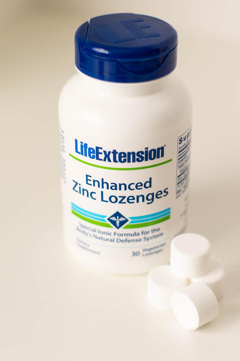 enhanced zinc lozenges effective for cold flu virus