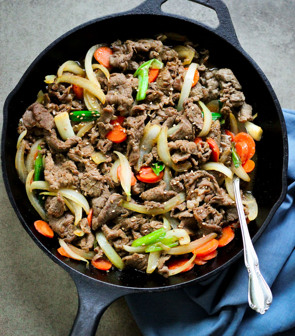 Paleo Bulgogi (Korean BBQ Beef)
