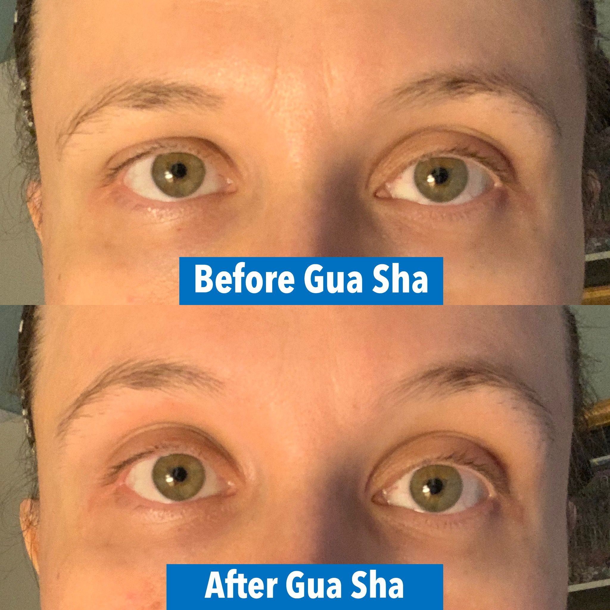 eyebrow lift with gua sha