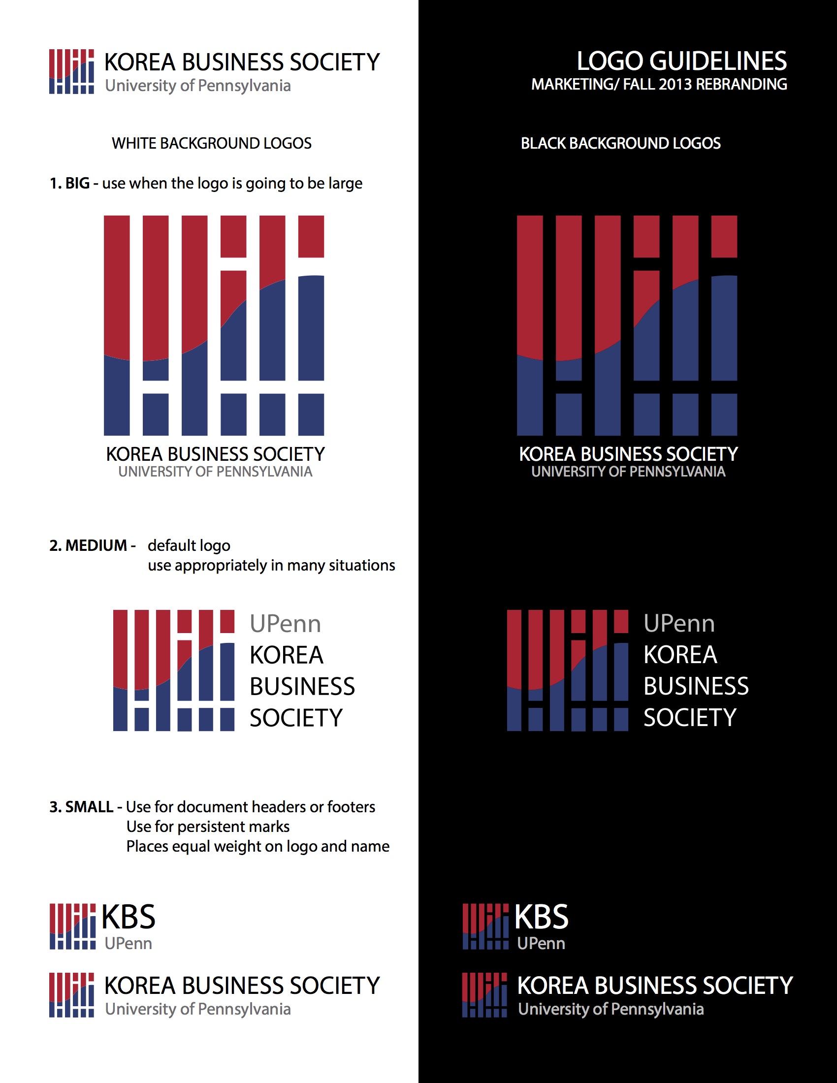 - Wharton KUBS IdentityRebranding of Wharton Korea Undergraduate Business Society (Wharton KUBS), formerly Korea Business Society (KBS). Using motifs from the Korean flag, this scalable logo unites corporate aesthetic with distinctly Korean and Penn motifs.