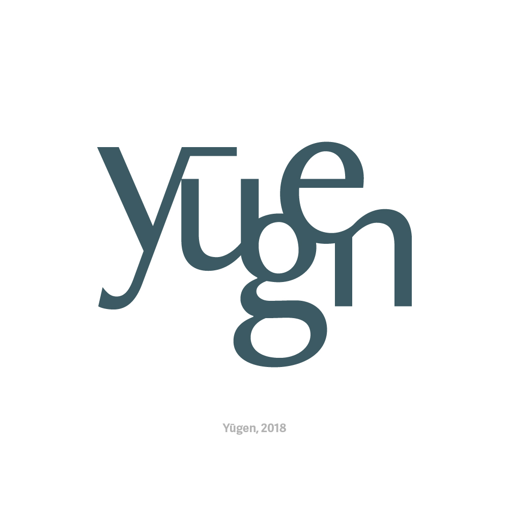 - YūgenClass project for Typography, Fall 2018. A group project with Johnathan and Duong. We were asked to create a comprehensive brand identity for a bookstore. Yūgen—books, coffee, suffering—is an elusive but dynamic brand for a bookstore that provides a haven for deep, slow thought in the relentless pace of modern life.See more work from this project.