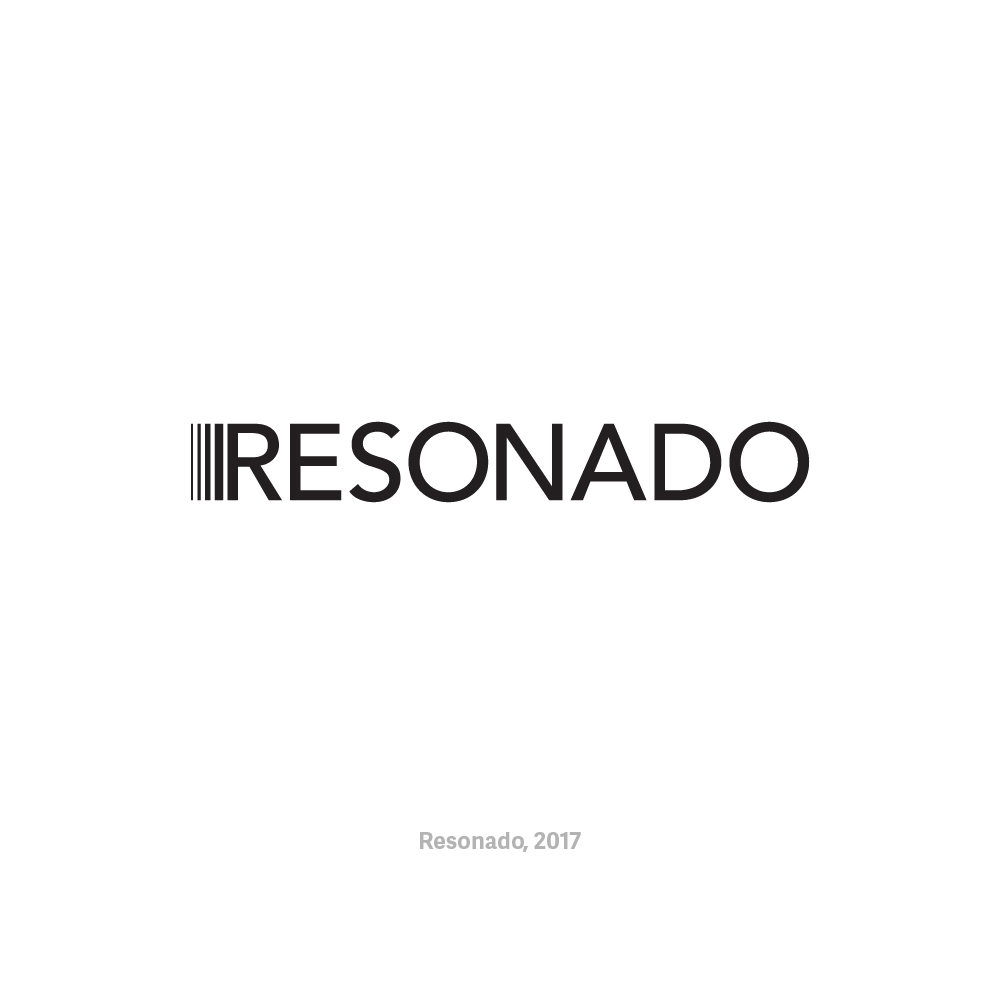 - ResonadoLogo design for Resonado, a portable speaker startup, in 2017. They wanted a modern and sophisticated look that alludes to their flat speaker technology.