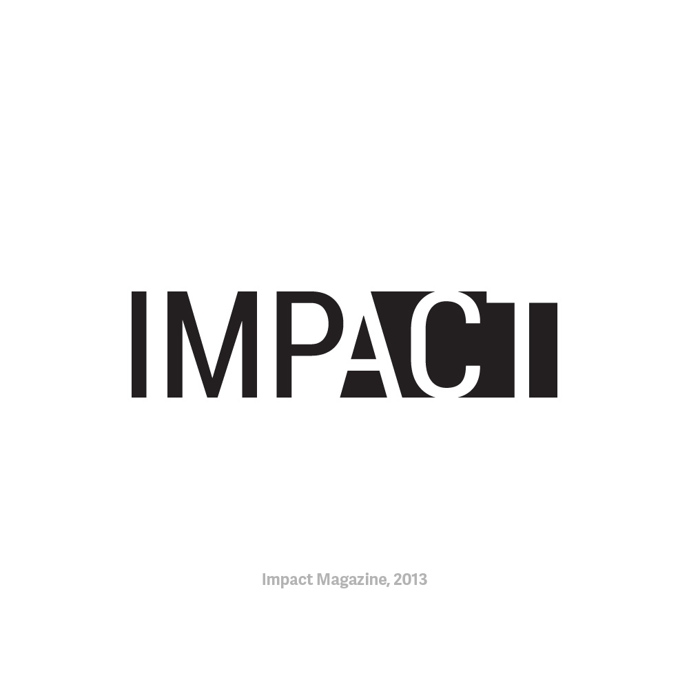- IMPACT MagazineLogo design for IMPACT Magazine in Fall 2013 while working as a Graphic Designer at Penn Student Design.