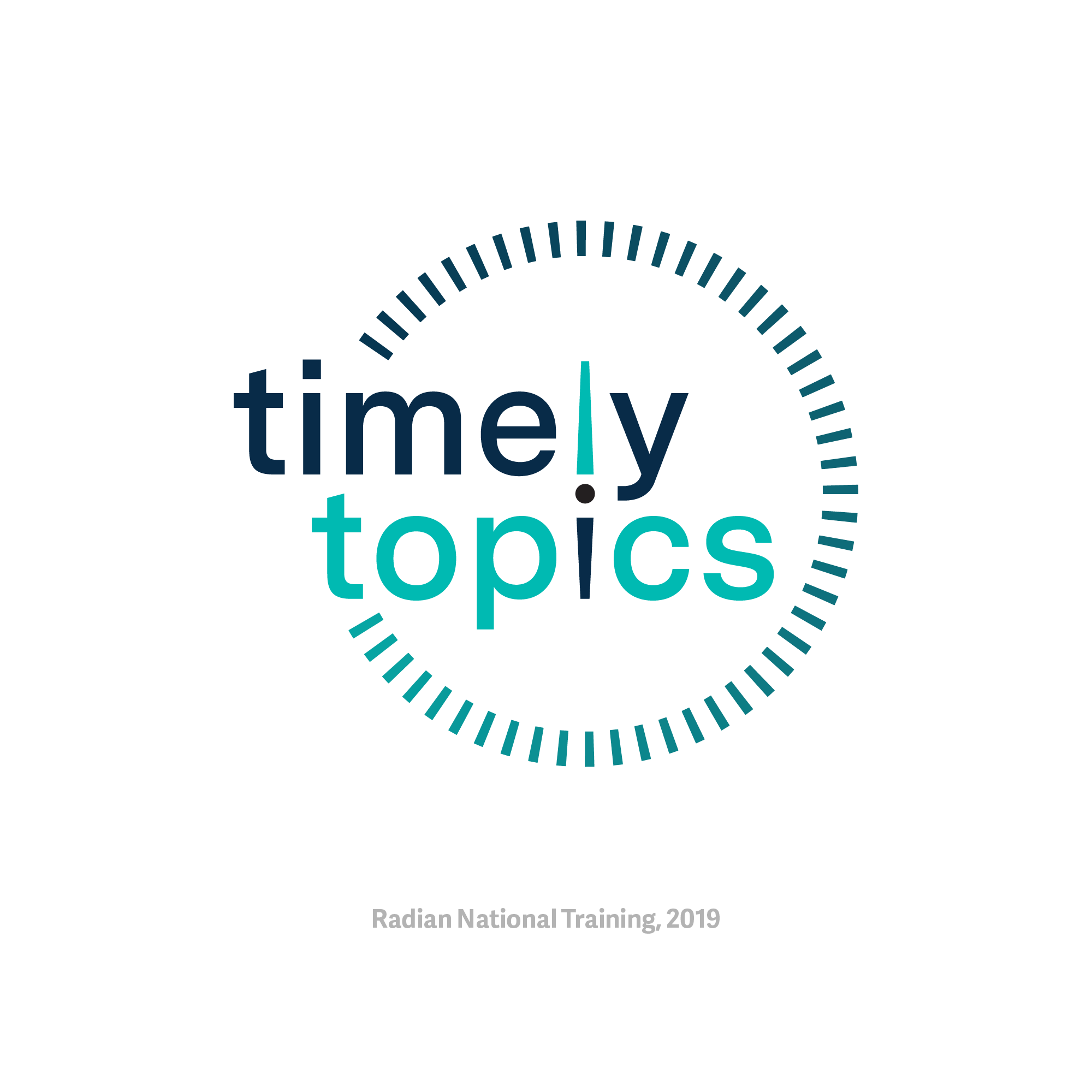 Logo for Timely Topics video series.