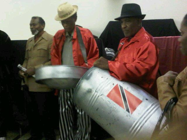 Pan Man Pat on the Tenor pan and Jeff on the Dudup