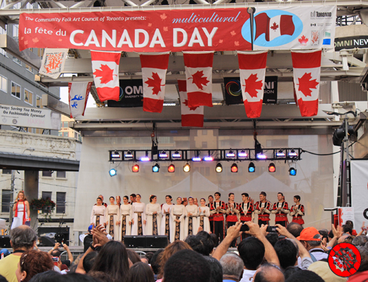 Celebrating Cultures on Canada Day at Dundas Square