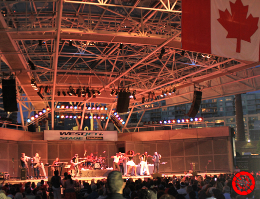 Celebrating Canada Day Long Weekend at the West Jet Stage at Harbourfront