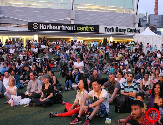 Audience watching the Canada Day celebrations at Harbourfront