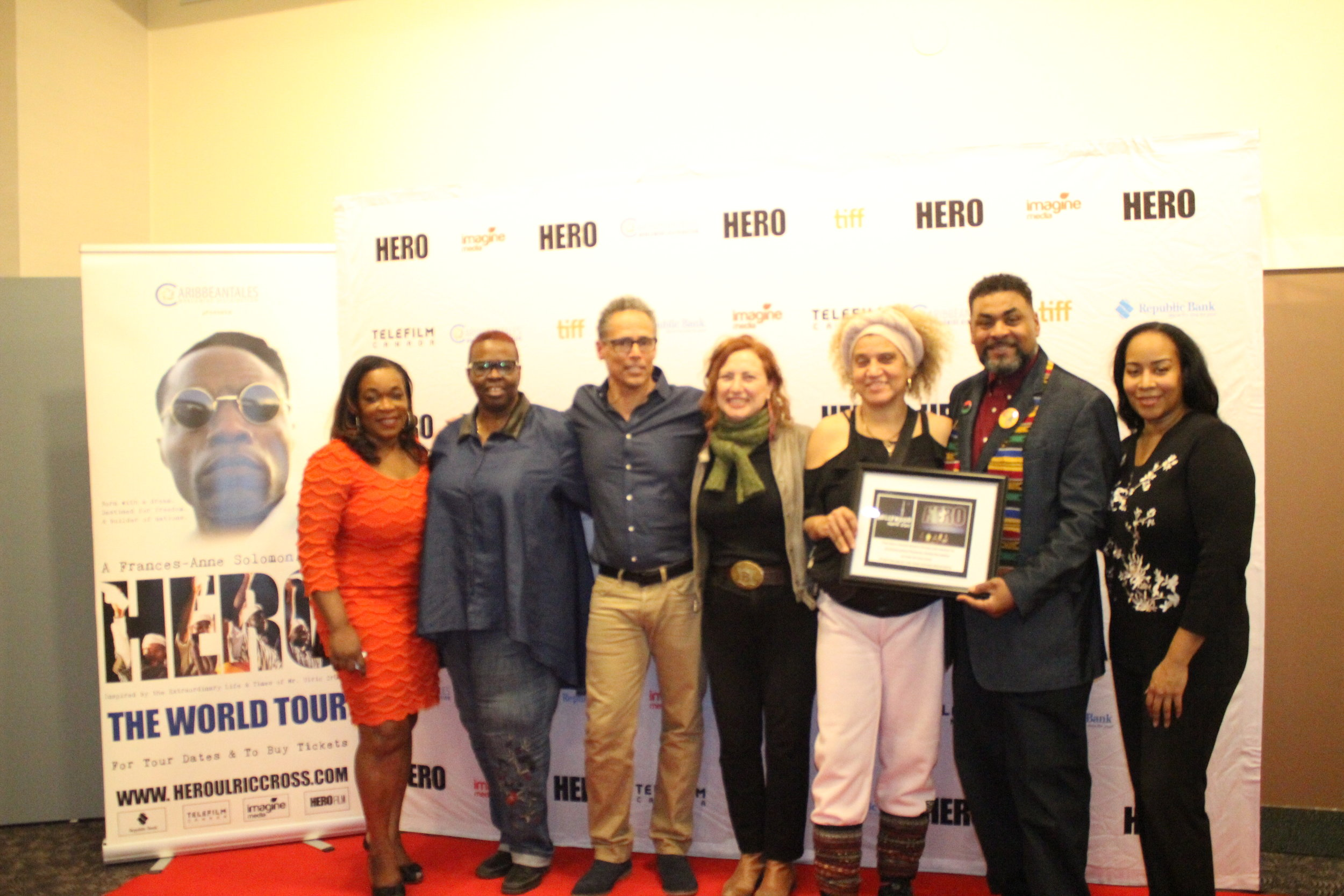 Photo-op with cast of HERO