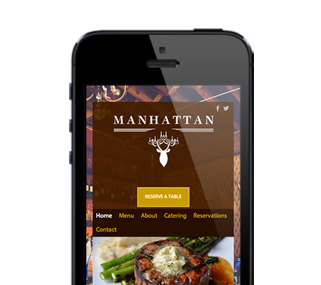 An Appetas customer's mobile website