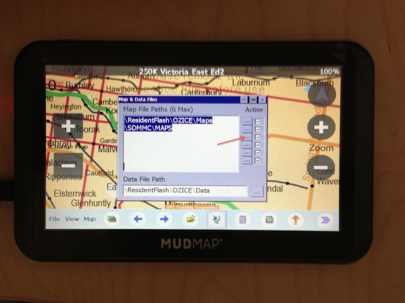 Configure OziExplore map path