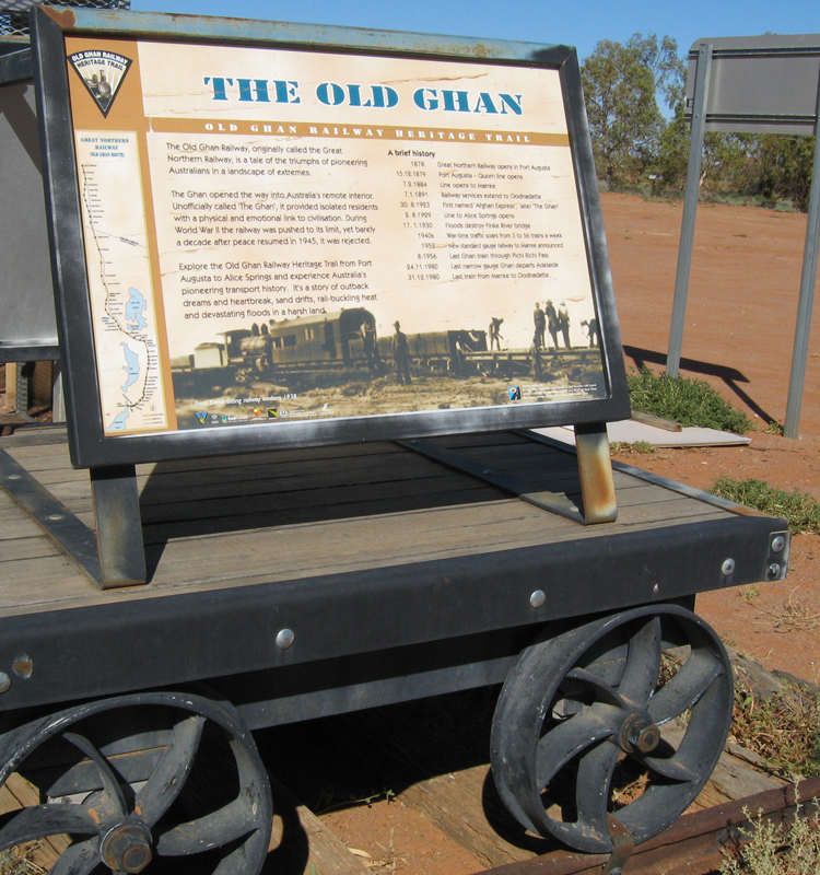 The Old Ghan Railway. Photo thanks to our mates  The 4X4 Guys