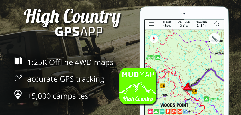 Mud Map High Country GPS App